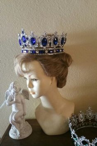 Sapphire and diamonte' Empress crown