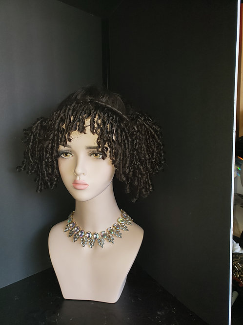 Discount hair piece curls braid combo