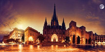 Sunset and moonlight in Barcelona .jpg