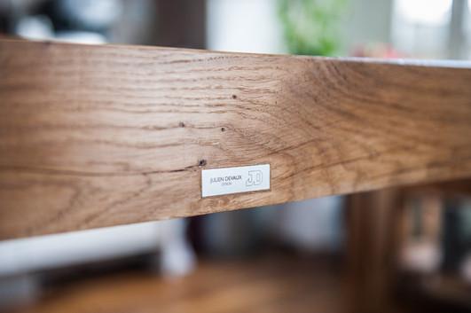Table-manger-salon-chevet-basse-chêne-bois-massif-acier-conception-création-fabrication-mobilier-décoration-sur-mesure-moderne-design-contemporain-Paris-Nantes-jdds-julien-devaux-designer-concepteur-créateur
