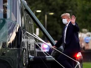 دونالد ترامپ پس از بهبودی به کاخ سفید بازگشت