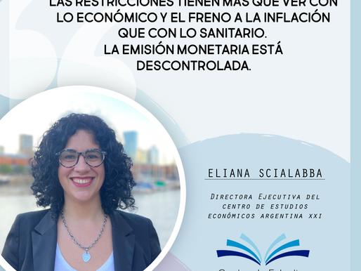 """""""Las restricciones tienen más que ver con lo que económico...""""-Eliana Scialabba en Radio Jai"""