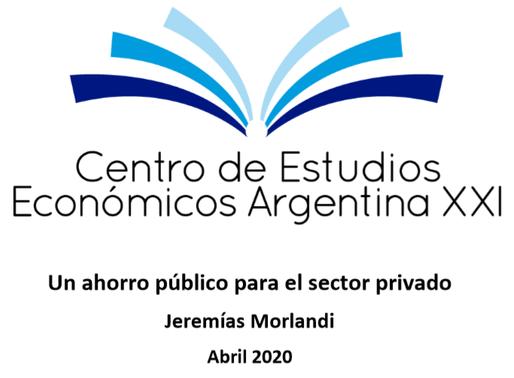 Un ahorro público para el sector privado