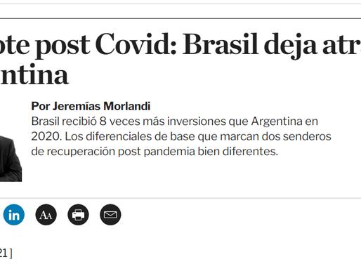 Rebote post Covid: Brasil deja atrás a Argentina