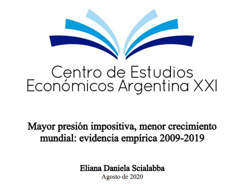 Mayor presión impositiva, menor crecimiento mundial: evidencia empírica 2009-2019