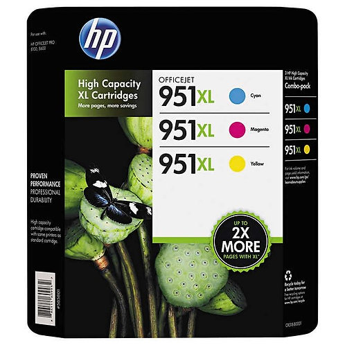 HP 951XL Tri-Color Ink Cartridge