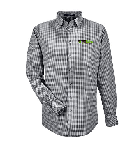 Men's CrownLux Performance™ Tonal Mini Check Shirt (WMK-DG535)
