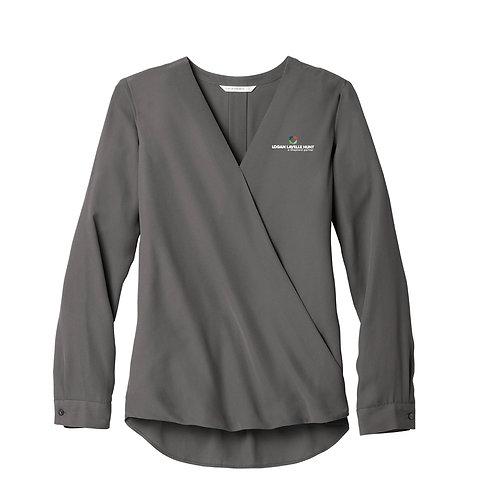 PA Ladies' Wrap Blouse (LLH-LW702)