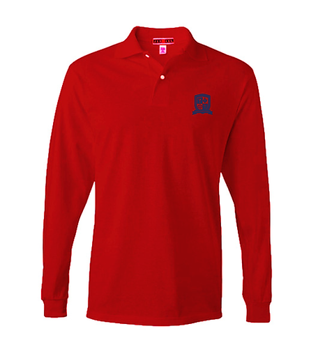 SH Adult Jersey Knit L/S Polo (437ML)