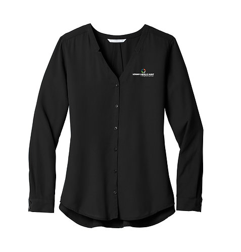 PA Ladies' Long Sleeve Button Down Blouse (LLH-LW700)