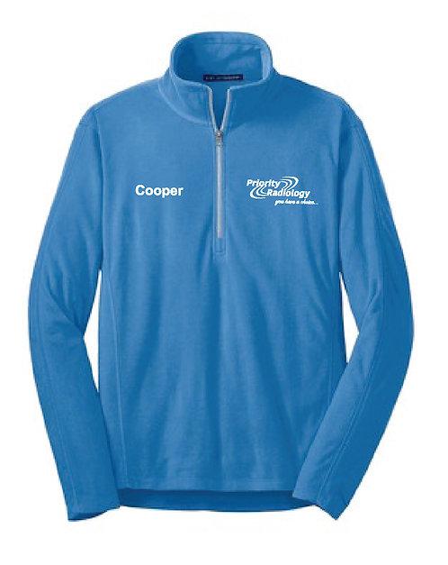 P.R. Custom Name Men's Port Authority 1/2 Zip Microfleece Jacket (PR-F224C)