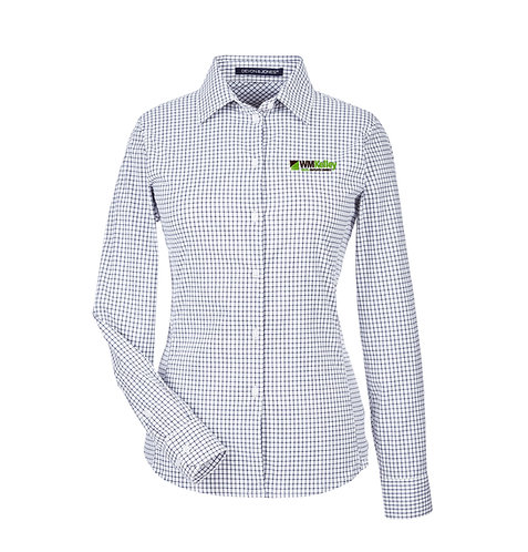 Ladie's CrownLux Performance™ Tonal Micro Windowpane Shirt (WMK-DG540W)