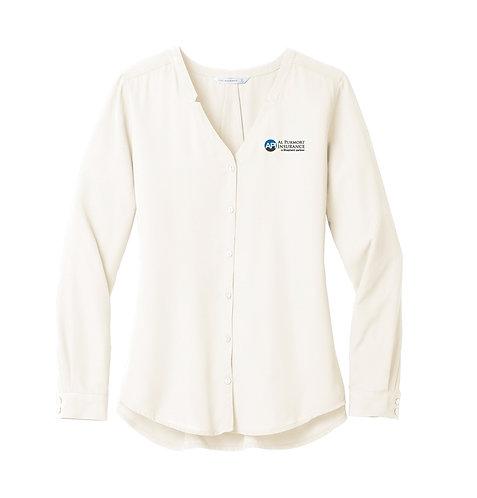 PA Ladies' Long Sleeve Button Down Blouse (API-LW700)