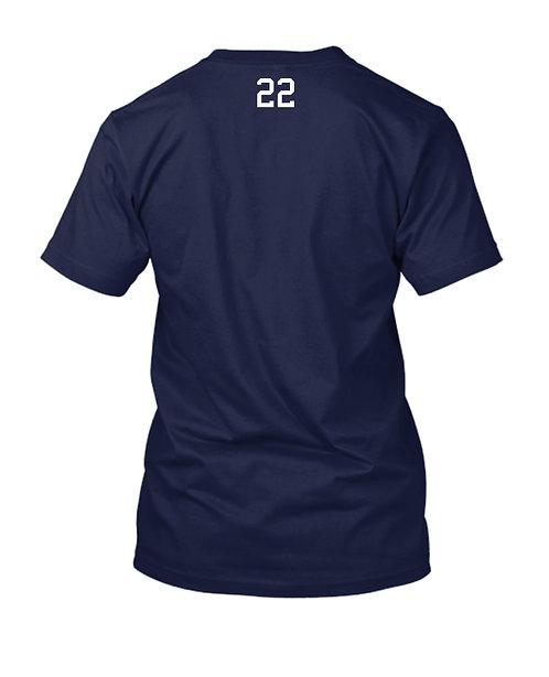 PHS Football Mom Custom Number V-Neck (PHS-3005C)