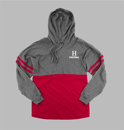 Ladie's Adult Football Hooded Pom Pom Jersey (HC-T18)