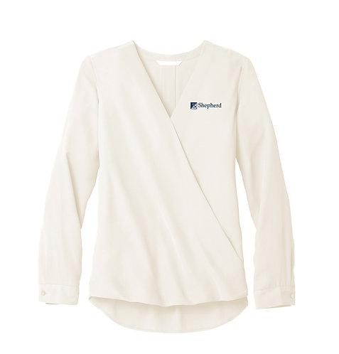 PA Ladies' Wrap Blouse (S-LW702)