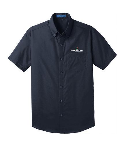 PA Men's Carefree Poplin S/S Shirt (LLH-W101)