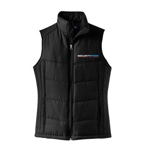 SecurityPros Women's Puffy Vest - Black (SP-L709)
