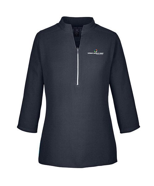 Devon & Jones Ladies' Perfect Fit 3/4 Sleeve Crepe Tunic (LLH-DP611W)