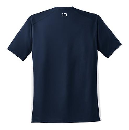 Custom Number Colorblock Football Tee (PHS-T478C)