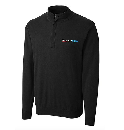 SecurityPros Men's Clilque Imatra 1/2 Zip Sweater - Blk (SP-MQS00001)