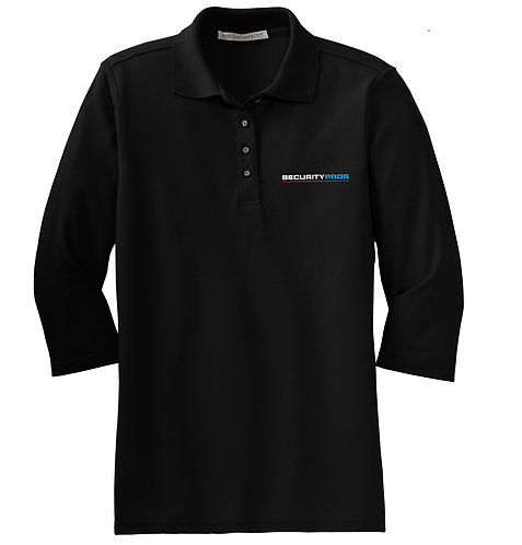 SecurityPros Women's SilkTouch 3/4 Sleeve Polo (SP-L562)