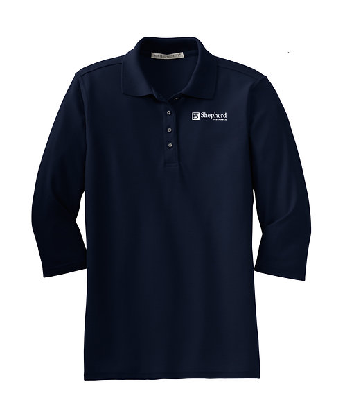 PA Ladies' Silk Touch 3/4 Sleeve Polo (SI-L562)
