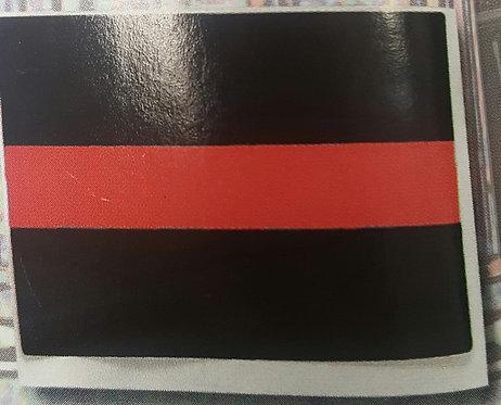 "Thin Red Line Inside Window 3x5"" Decal (RCW-P790AR)"