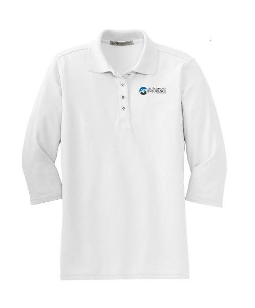 PA Ladies' Silk Touch 3/4 Sleeve Polo (API-L562)