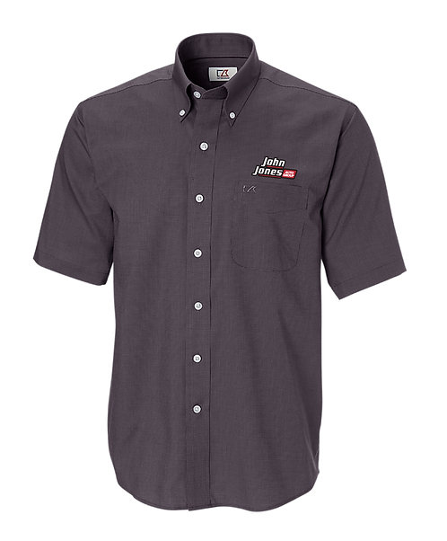 CB Men's Big & Tall Epic Easy Care Nailshead S/S Button Down (JJAG - BCW01797)