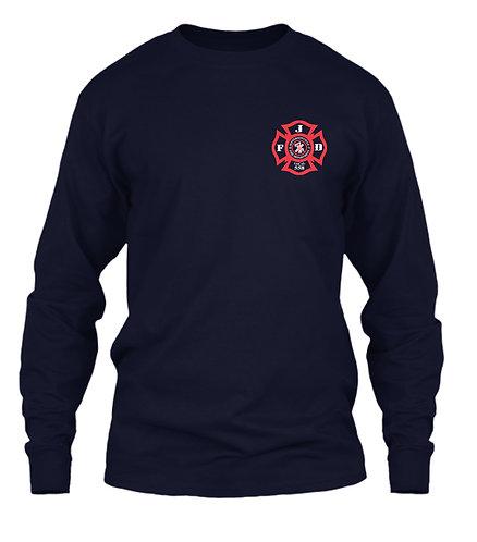 Navy Logo Long Sleeve Shirt (JFD-8400)