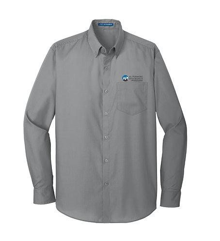 PA Men's Carefree Poplin L/S Shirt (API-W100)