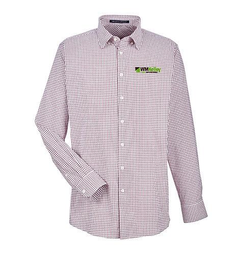 Men's CrownLux Performance™ Tonal Micro Windowpane Shirt (WMK-DG540)