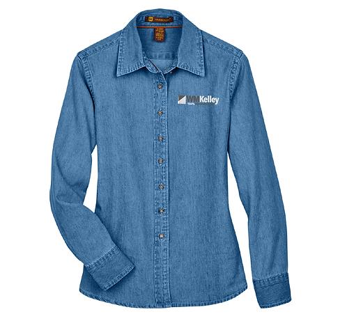 Ladies' Harrington Denim Shirt (WMK-M550W)