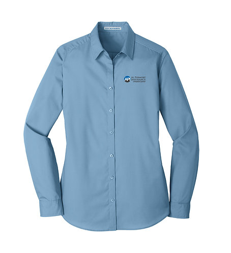 PA Ladies' Carefree Poplin L/S Shirt (API-LW100)