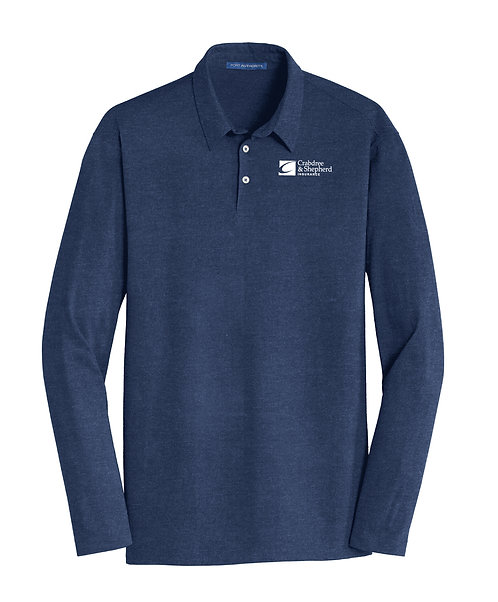PA Men's Meridian Cotton Blend L/S Polo (C-K577LS)