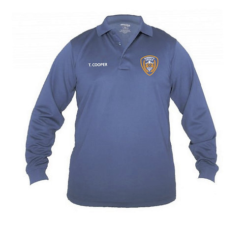 UFX Tactical Men's LS French Blue Polo (JCSO-K5149)
