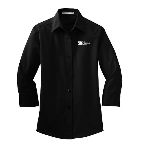 PA Ladies' 3/4 Sleeve Easy Care Button Down (C-L612)