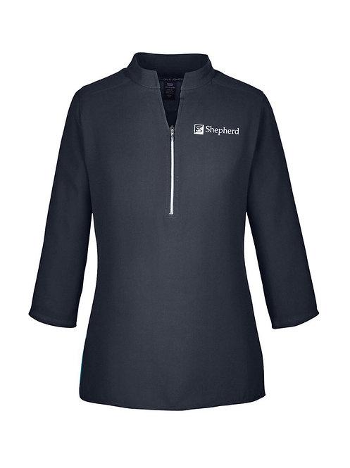 Devon & Jones Ladies' Perfect Fit 3/4 Sleeve Crepe Tunic (S-DP611W)