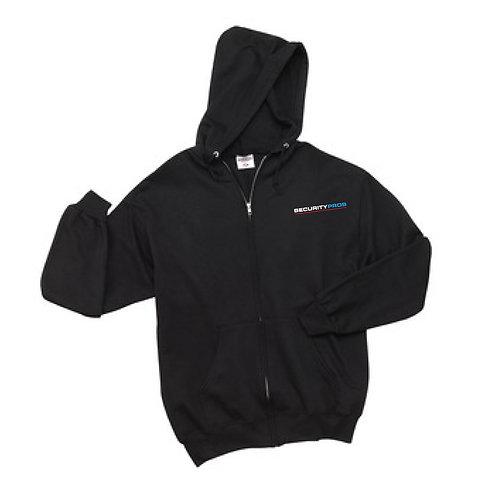 SecurityPros Zip Hooded Sweatshirt - Black (SP-993M)