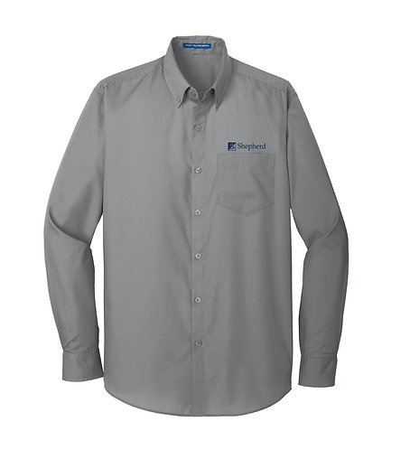 PA Men's Carefree Poplin L/S Shirt (S-W100)