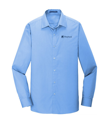 PA Men's Slim Fit Carefree Poplin Shirt (S-W103)
