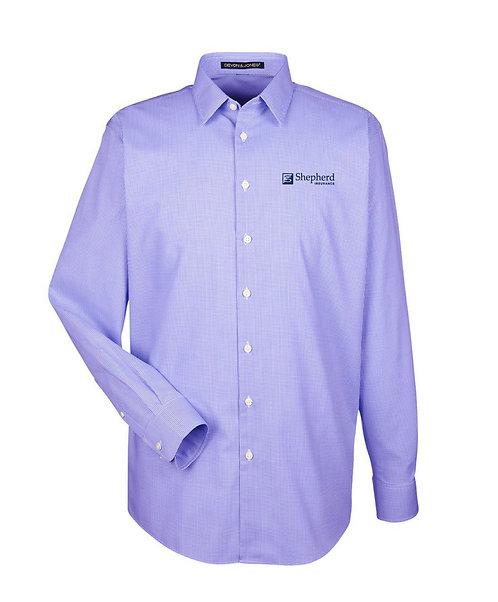 Devon & Jones Men's Crown Woven Collection Royal Dobby Shirt (SI-DG532)