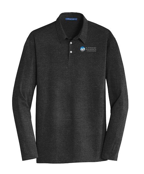 PA Men's Meridian Cotton Blend L/S Polo (API-K577LS)