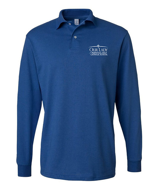 OLPH Adult Unisex Royal Long Sleeve Polo – 5th - 8th Grade Only