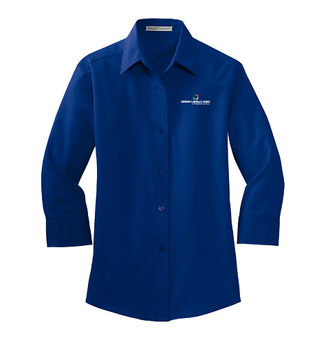PA Ladies' 3/4 Sleeve Easy Care Button Down (LLH-L612)