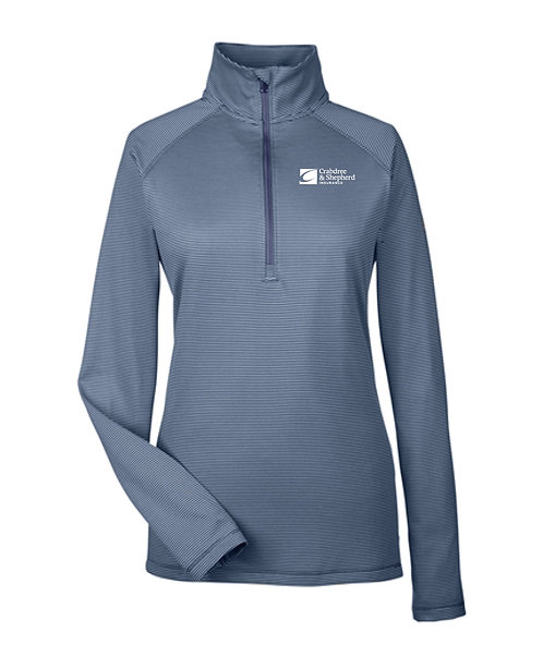 Under Armour Ladies' Tech Stripe 1/4 Zip (C-1289408)