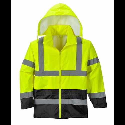 Men's Portwest Hi-Vis Rain Jacket (DC - UH443)