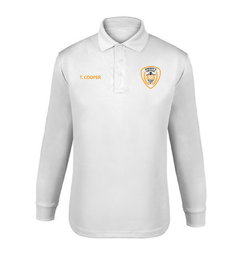 UFX Tactical Ladies' LS White Polo (JCSO-K5180LC)