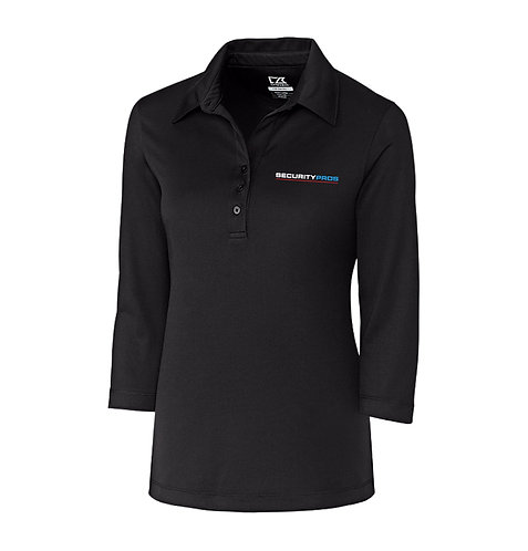 SecurityPros Women's DryTec 3/4 Sleeve Chelan Polo (SP-LCK02593)